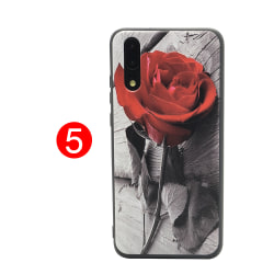 LEMAN Skal med Blom-motiv för Huawei P20 5