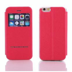 Stilrent Smartfodral med Fönster & Svarsfunktion iPhone 7 PLUS Röd