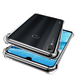 Huawei Y6 2019 - Stöttåligt Silikonskal Transparent/Genomskinlig