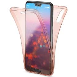 Stötdämpande Praktiskt Dubbelsidigt Silikonskal - Huawei Y6 2019 Rosa