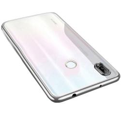 Huawei Y6 2019 - Exklusivt Kraftfullt Silikonskal Silver