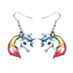 Örhängen Enhörning Unicorn Sagoväsen Regnbåge Fantasy  multifärg