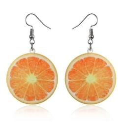 Örhängen APELSIN Frukt Fruit Akryl Oversize ORANGE Orange