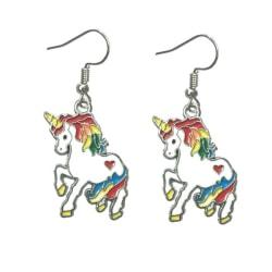 Örhängen Enhörning Unicorn Regnbågsfärgad Sagoväsen multifärg