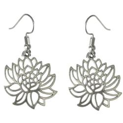Örhängen Lotusblomma Buddhism Yoga Lotus Symbol Silver