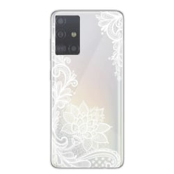 Samsung Galaxy S20 ULTRA Spets Henna Lace Vit Mandala Blomma Vit
