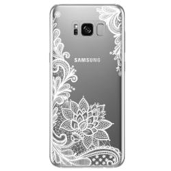 Samsung Galaxy S8 PLUS Blommor Henna Vit Vit