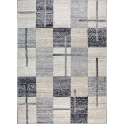D-sign Matta Milano Collection Maya Creme/Mörkgrå White 120x170