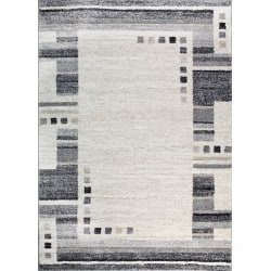 D-sign Matta Milano Collection Olbia Creme/Mörkgrå White 160x230