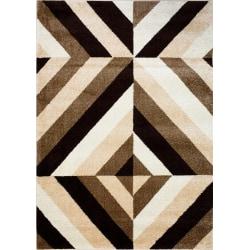 D-sign Matta Rainbow Collection Nova Beige/Mörkbrun Brown 80x120