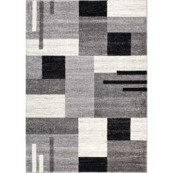 D-sign Matta Rainbow Collection York Mörkgrå/Ljusgrå Black 120x170