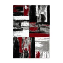 Attishmee Roseau Matta Röd Black 120x170
