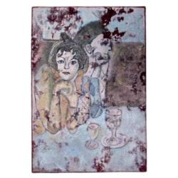 Handknuten Persisk Vintagematta 93x135cm Blå