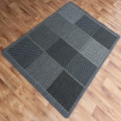 Sisal Matta 408 Svart/Grå Black 60x110