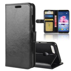 Crazy Horse Plånboksfodral för Huawei P Smart - Svart