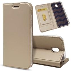 Business Plånboksfodral för Samsung Galaxy J3 2017 - Guld
