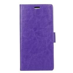 Crazy Horse plånboksfodral för Samsung Xcover 4 - lila