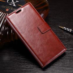Crazy Horse plånboksfodral för Xperia XZ Premium - brun