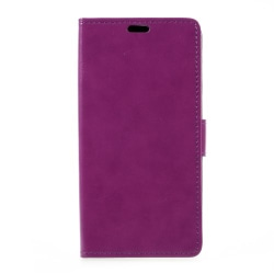 Crazy Horse plånboksfodral för Xperia XZ Premium - lila
