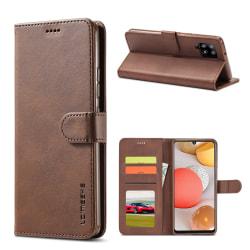 LC IMEEKE Plånboksfodral för Samsung Galaxy A42 - Brun