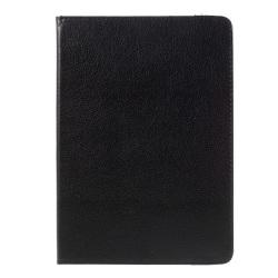 """Litchi Leather Fodral med Stativ för iPad Pro 9.7"""" - Svart"""