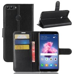 Litchi Plånboksfodral för Huawei P Smart - Svart