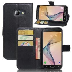Litchi plånboksfodral för Samsung Galaxy A5 (2017) - svart