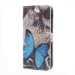 Plånboksfodral för Samsung Galaxy Xcover 4 - Blå Fjäril