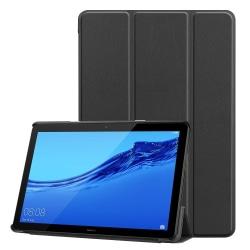 Tri-fold PU Fodral till Huawei MediaPad T5 10 - Svart
