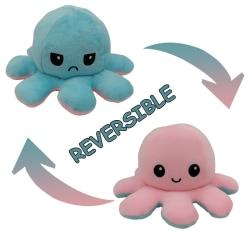 Vändbart mjukisdjur bläckfisk, Rosa/Ljus blå