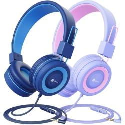 2-pack hörlurar för barn, trådbundna hörlurar för barn
