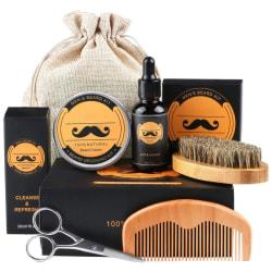 Beard Care Present Set, 6 i 1 Beard Care Set med skäggbalsam