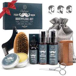 Beard Care Set, 9 i 1 presenter Beard Care för män