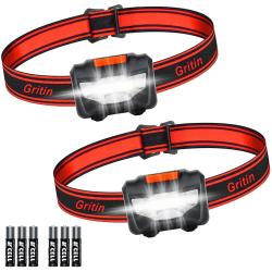 Stark pannlampa 2-Packs Waterproof Headlamp LED