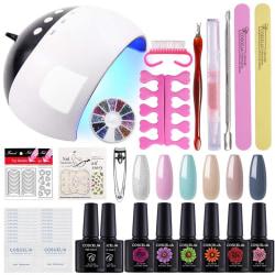 UV nagelkit gel nagellagkit 6 färger 10ml