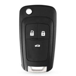 3-knapps fjärrnyckelskal för Chevrolet Svart