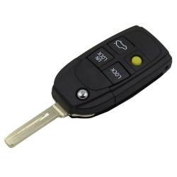 4-knapps byte av fjärrnyckel för Volvo Svart