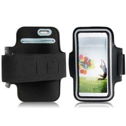 Galaxy S4 nylon sport flexibel armband väska case svart Svart