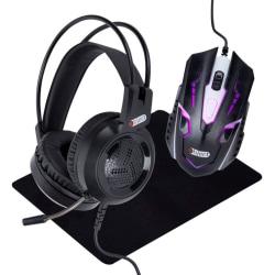 3-in-1 Gaming kit Headset, gamingmus och musmatta