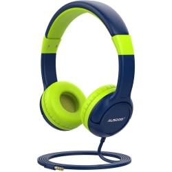 Ausdom K1 Kids hörlurar musikdelning 85dB volym begränsad  Blå