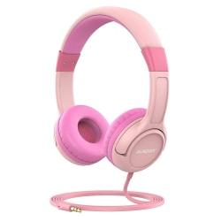 Ausdom K1 Kids hörlurar musikdelning 85dB volym begränsad  Rosa