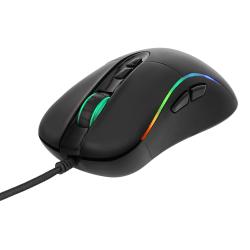 DELTACO GAMING optisk mus, RGB. GAM-019 Svart