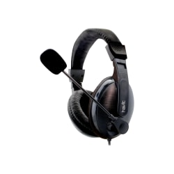 Havit HV-H139D-hörlurar med mikrofon 3,5 mm Svart