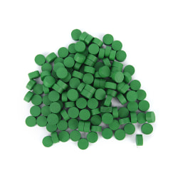 100st 10 * 5MM 8 färger Pawn Trä Game Pieces Pion / Schackbräde Green