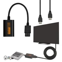 1080P HDMI Adapter Converter HD-kabel för Nintendo 64 / SNES / NGC Black