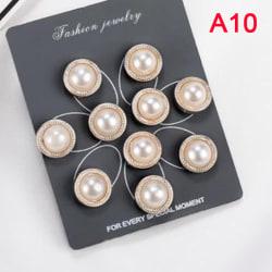 10st / set söt praktisk antireflexbehandlad brosch klänning halsringning pärla A10