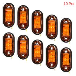 10PCS Varningsljus LED-diodljus Trailer Truck LED Side Mark Yellow