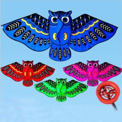 110cm flygande drake färgglada tecknad uggla med Kite Line Kids Outd One Size