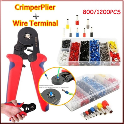 1200 / 800PCS Wire Crimping Terminaler 0.25-10mm² Crimper Tång Se Crimping Plier&1200PCS Terminals