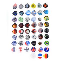 150st Professional i 50 typer av mönster Dart svansflygningar